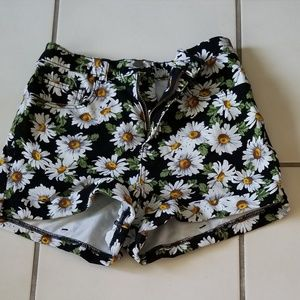 American Apparel Floral Jean Shorts
